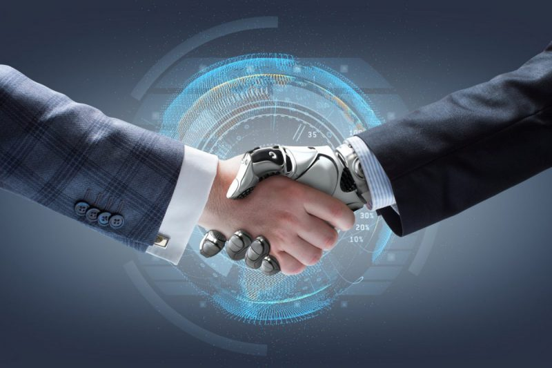 AI x Human handshake